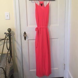 Victoria's Secret bright coral maxi dress - XS